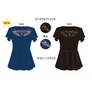 【第三章】ペプラム Tシャツ<ネイビー/ブラック>