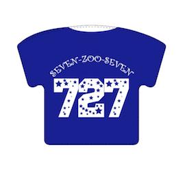 Tシャツ型キーホルダー(727 ver.)