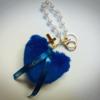 【BLUE SHOP】限定あり ★ハートファーチャーム<ブルー/ホワイト>