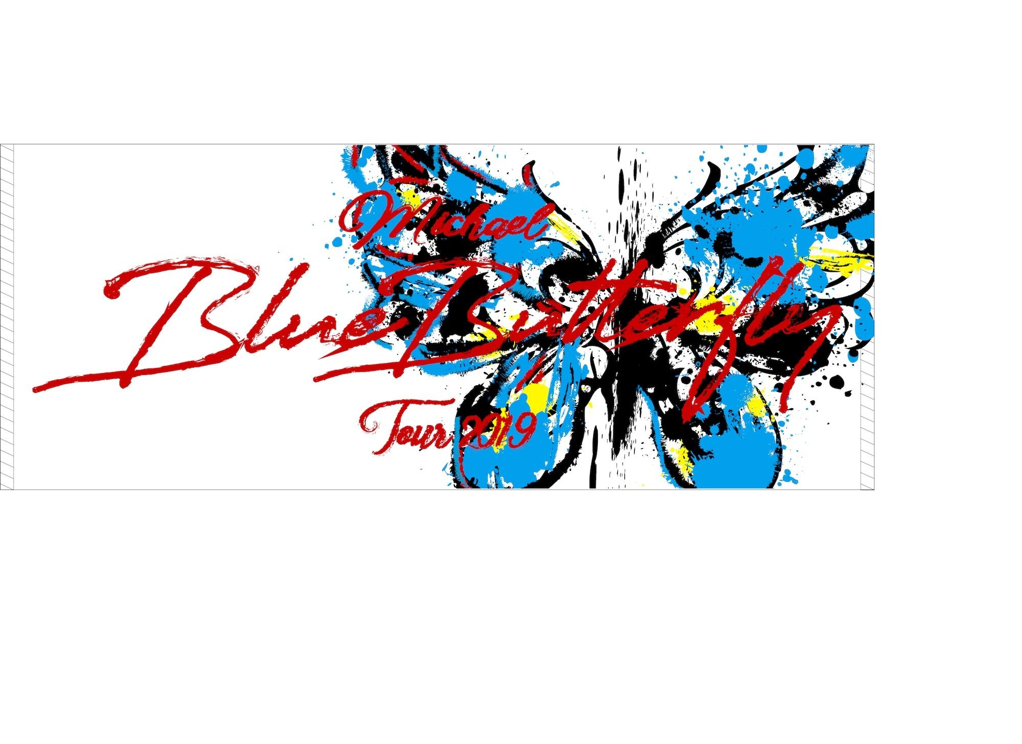 <MICHAEL TOUR 2019 Blue Butterfly> フェイスタオル