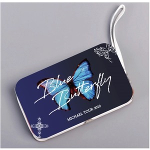 <MICHAEL TOUR 2019 Blue Butterfly> 【松岡】スマホ&ウォレット充モルフォハードケース<アウトレット品>