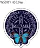 <MICHAEL 2019 第六章>ロング丈ブランケット *木製バッジ付