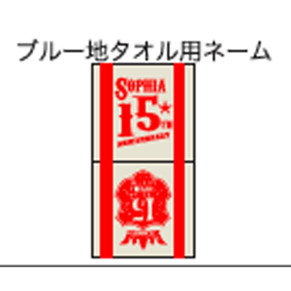 """【TOUR 2010 """"15""""】スポーツタオル(青) ¥3500➡¥2500キャンペーン価格!"""